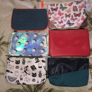 All together Makeup/clutch bags